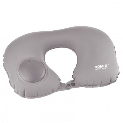 Romix Hand Inflatable Travel Neck Pillow - Gray