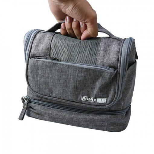 Romix Foldable Cosmetics Bag - Grey