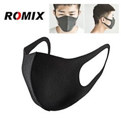 ROMIX Breathable Fashionable Pitta Face Mask - Black
