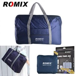 ROMIX RH43 Foldable Water Resistant Nylon Travel Luggage Bag - Blue