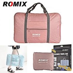 ROMIX RH43 Foldable Water Resistant Nylon Travel Luggage Bag - Pink