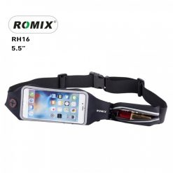 "Romix 5.5"" Outdoor Touch Screen Sport Running Waterproof Purse Waist Bag - Black"