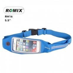 "Romix 5.5"" Outdoor Touch Screen Sport Running Waterproof Purse Waist Bag - Blue"