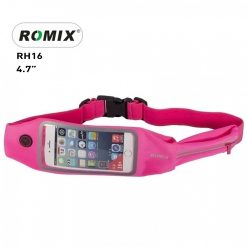 "Romix 4.7"" Outdoor Touch Screen Sport Running Waterproof Purse Waist Bag - Pink"