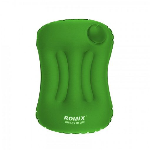 Romix Hand Inflatable And Foldable Travel Pillow - Green