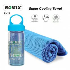 Romix RH24 Bottled Package Ice Evaporative Sports Cooling Towel - Blue