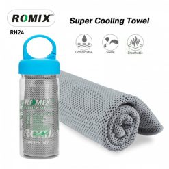 Romix RH24 Bottled Package Ice Evaporative Sports Cooling Towel - Gray