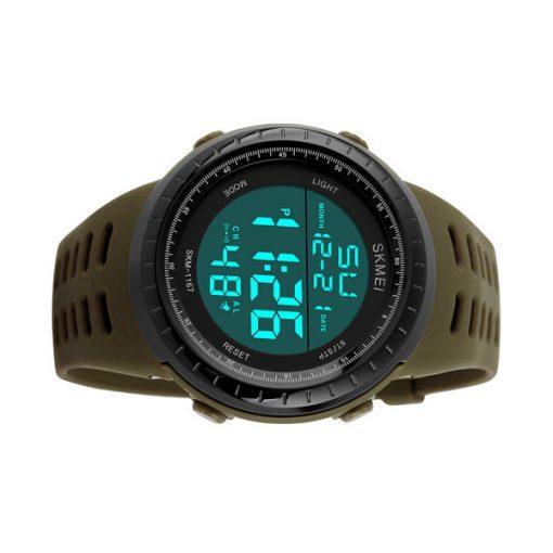 50m Waterproof Digital Sports Watch - Brown