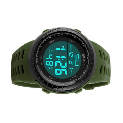 50m Waterproof Digital Sports Watch - Green