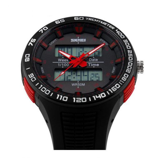 30M Waterproof Dual Mode Watch - Red