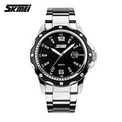 Casual Stainless Steel Analog Quartz Watch - Black