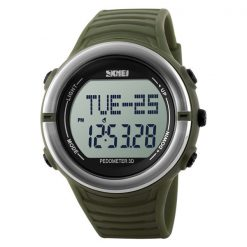 50M Waterproof Heart Rate Monitor Pulse Watch - Green