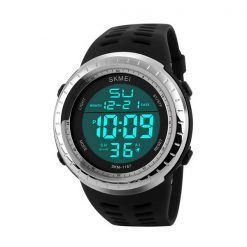50m Waterproof Digital Sports Watch - Black