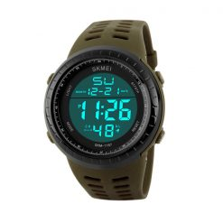 50m Waterproof Digital Sports Watch - Brown