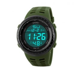 50m Waterproof Digital Sports Watch - Green
