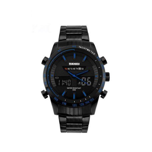 30M Waterproof Multimode Watch With Week Hour Minute Seconds Display - Blue
