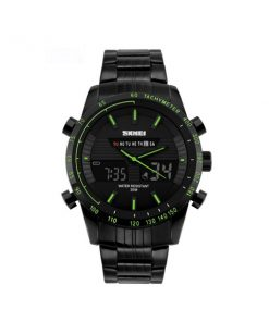 30M Waterproof Multimode Watch With Week Hour Minute Seconds Display - Green