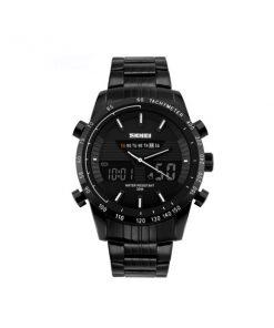 30M Waterproof Multimode Watch With Week Hour Minute Seconds Display - White