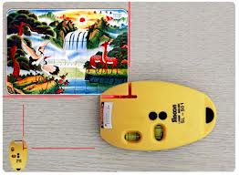 2 Lines Laser Level Marker Meter Mouse Type - Yellow