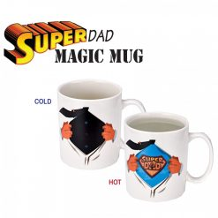 350 ml Superman Dad Heat Sensitive Magic Mug - White