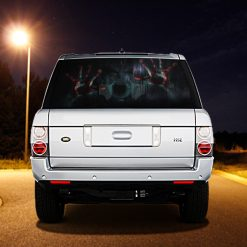 High Beam Scary Car Tint Rear Window Sticker DT07 - Black