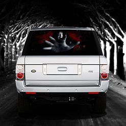 High Beam Scary Car Tint Rear Window Sticker DT06 - Black