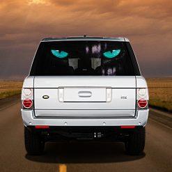 High Beam Cats Eye Car Tint Rear Window Sticker DT16 - Black