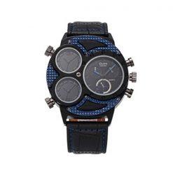 Oulm 3 Time Zones Scratch Resist Watch 3594 - Blue