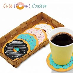 Cute Doughnut Coaster Set of 4 - Multi color