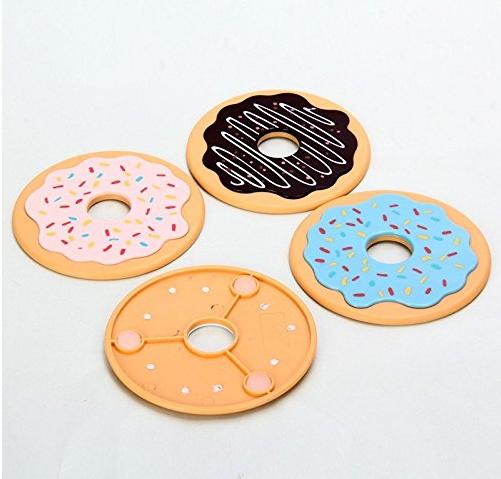 Cute Doughnut Coaster Set of 4 - Multi color