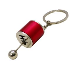 6 Speed Gearshift Keychain Action Keychain - Red