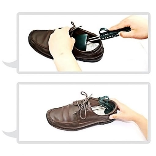 Adjustable Plastic Shoe Stretcher Tree For Men - Black