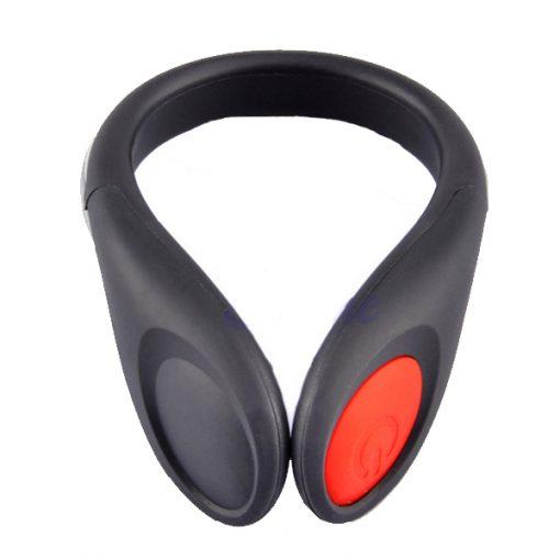 LED Lighted Safety Shoe Clip - Black/Red