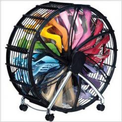 56cm 12 Pairs Shoe Wheel Storage - Black