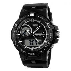 50M Waterproof Dual Mode Chronograph Watch -  Black