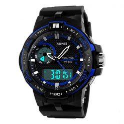 50M Waterproof Dual Mode Chronograph Watch  -  Blue