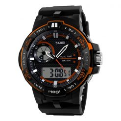 50M Waterproof Dual Mode Chronograph Watch -  Orange