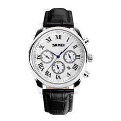 30M Waterproof LG9078 Chrono Casual Watch -  White