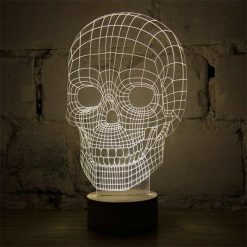 3D LED Light Skull Shaped Table Lamp