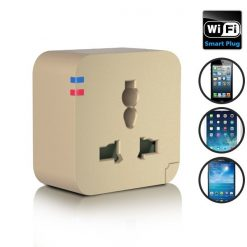 220v APP Controlled Wifi Remote Control Socket - Gold