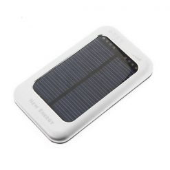 3500mAh Solar Powerbank With Adjustable Output Power - Silver