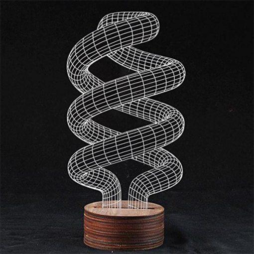 3D LED Light Spiral Shaped Table Lamp