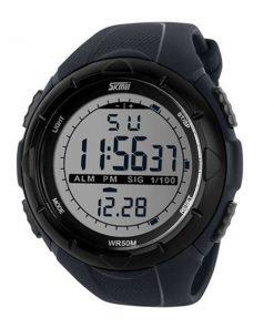 50M Waterproof Sport Watch With Stop Watch Timer - Black