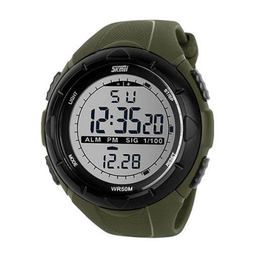 50M Waterproof Sport Watch With Stop Watch Timer - Green