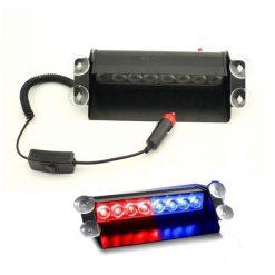 8 LED Strobe Light With Flash Lamp - Black