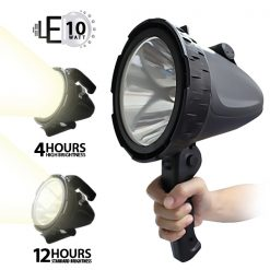10W Rechargeable CREE LED Emergency Spotlight - Black