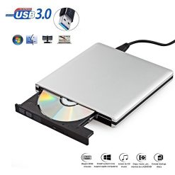 Portable USB 3.0 External DVD RW - Silver