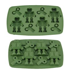 Robot Ice Cube Tray - Green