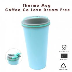650 ml Stainless Thermos Coffee Mug With Suction Spout  - Blue