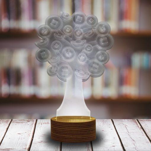 3D LED Light Tree Shaped Table Lamp